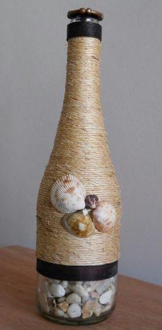 Botella, piedras y un poco de imaginación...