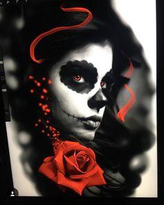 Vine Tattoos, Skull Tattoos, Sleeve Tattoos, Flower Tattoos, Tattoo Studio, Tribal Forearm Tattoos, Day Of The Dead Girl, Crane, Girl Face Drawing