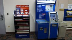www.cashforoffer.com  The automated postal center is a custom-made platform by Wincor-Nixdorf based on one of their indoor ATM designs (a version of which can often be seen as a Chase ATM inside certain Target stores). It