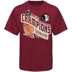 Florida State Seminoles (FSU) 2012 ACC Men's Basketball Tournament Champions T-Shirt - Garnet
