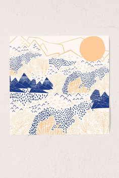 Leah Duncan Mountain Blossom Art Print - Urban Outfitters