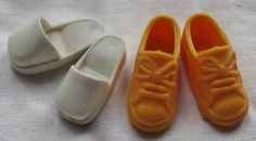 Vintage Sindy doll shoes. Remember these.  Sindy was such a sensible shoes kind of girl