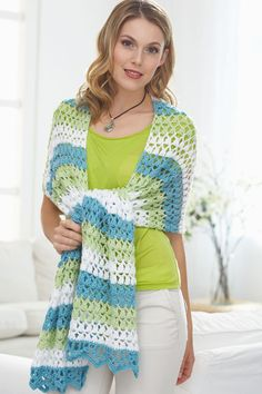 Caron International | Free Project | Triad Shawl.