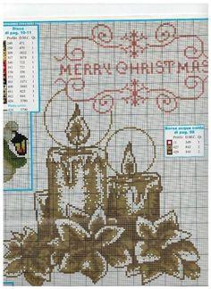 Cross Stitch Charts, Cross Stitch Patterns, Christmas Cross, Xmas, Cross Stitching, Crochet, Projects To Try, Embroidery, Holiday Decor