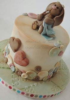 Bunny Cake - For all your cake decorating supplies, please visit… Torta Baby Shower, Fondant Cakes, Cupcake Cakes, Susie Cakes, Cake Design Inspiration, Fantasy Cake, Baby Girl Cakes, Cake Decorating Supplies, Novelty Cakes