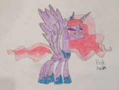 """Pink Moon is a sassy alicorn with a big personality.. She loves making constellations every night . Her moto is """"once in a pink moon""""..100 bits to adopt."""