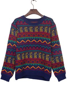 OM Aztec Knitted Sweater