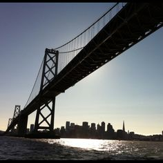 The Bay bridge in San Francisco.