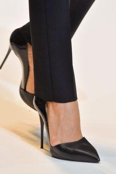 Thierry Mugler Black d'Orsay Pumps Spring 2015 - Details #Shoes #Heels #Mugler