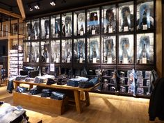 "JACK&JONES,Stuttgart, Germany, ""Denim Display Wall"", pinned by Ton van der Veer"