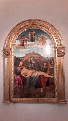 Piero di Cosimo, Pieta with Saints John the Evangelist, Mary Magdalene, and Martin - Galleria nazionale dell'Umbria
