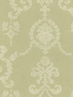 Wallpaper-Designer-Traditional-Classic-Victorian-Damask-Color-Pale-Green