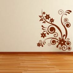 2798469b0571 Stars and Leaves Floral Embellishment Wall Sticker Decal