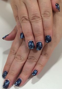 Galaxy nails for a lady who is officially a regular customer (this is her third mani in a month!)