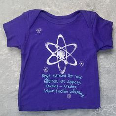 Geek Baby Lap Shirt Funny Quantum Physics Science Updated Mother Goose Rhyme for 21st Century To Make Smart Babies 18mon Lap Shirt