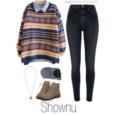 Fictional Character Inspired // Shownu by suga-infires on Polyvore featuring River Island and Jigsaw