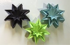 Origami STAR FLOWERS - wall decor More
