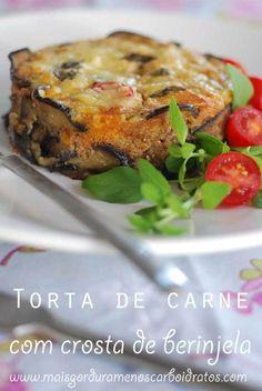 Torta com crosta de berinjela sem carboidratos