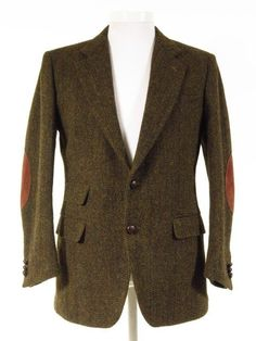 Harris Tweed jacket w/ ticket pocket + elbow patches - Tweedmans Vintage Harris Tweed Jacket, Tweed Jackets, Tweed Run, Tweed Suits, Suit Accessories, Mod Fashion, Elbow Patches, Formal Wear, Ticket