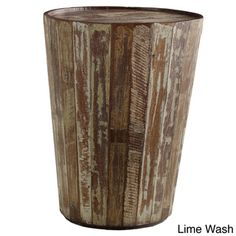@Overstock - Hamshire Barrel Side Table - Lend rustic style to your decor with this distressed barrel side table. Crafted from reclaimed wood for a natural appearance, this unique table is ideal for keeping a few books or a cup of coffee handy. It will look great in any indoor area.  http://www.overstock.com/Home-Garden/Hamshire-Barrel-Side-Table/7485070/product.html?CID=214117 $154.99