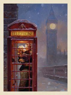 London by Steve Forney RETRO ART PRINT England Big Ben Poster 13x19