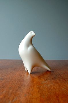 Mid Century Modern Porcelain Bird Sculpture by luola on Etsy