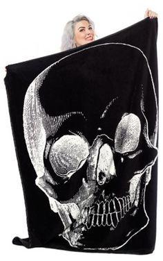 Sourpuss Gothic Skull Blanket $ 20.00