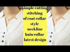 Latest & trendy designer neckline cutting and stitching video Salwar Neck Designs, Neckline Designs, Dress Neck Designs, Collar Designs, Blouse Designs, Collar Kurti Design, Stitching Classes, Churidhar Designs, Blouse Tutorial