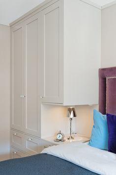 Bedroom storage built-in Bedroom Built In Wardrobe, Bedroom Built Ins, Fitted Bedroom Furniture, Small Bedroom Storage, Small Master Bedroom, Cozy Bedroom, Home Decor Bedroom, Bedroom Wall, Bedroom Cupboards