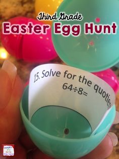 Third grade test prep is extra fun when it is an egg hunt!