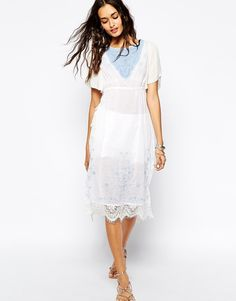 Free People Sugar Brunch Tunic with Tie Side