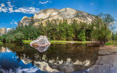 Lataa kuva Mirror Lake, Amerikassa, vuoret, Yosemite National Park, USA