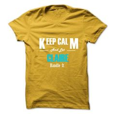 Keep Calm and Let CLAIRE Handle It - #tshirt pattern #camo hoodie. ACT QUICKLY => https://www.sunfrog.com/No-Category/Keep-Calm-and-Let-CLAIRE-Handle-It-6274423-Guys.html?68278