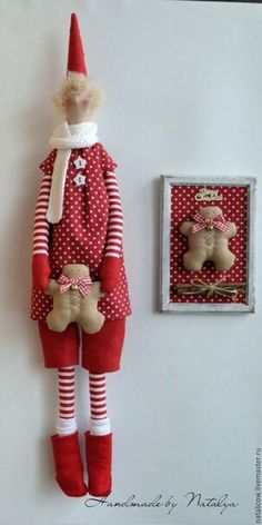 Christmas Sewing, Handmade Christmas, Christmas Crafts, Christmas Ornaments, Christmas Elf, Sewing Patterns Free, Free Sewing, Doll Patterns, Leftover Fabric