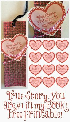 You are #1 in my Book FREE Valentine's Printable
