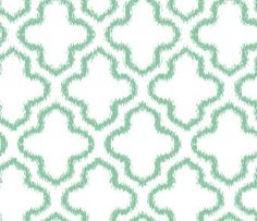 MINT QUATREFOIL Fitted Crib Sheet by fingersandtoes on Etsy