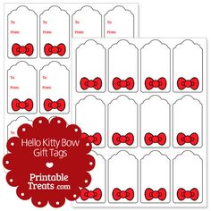 Free Hello Kitty Bow Gift Tags from PrintableTreats.com