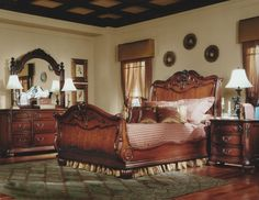 Bedroom Queen Bedroom Furniture Brown Wooden Lacquer Floor White Table Lamp Transparant Brown Window Curtain Brown Wooden Chest Of Drawer With Mirror On Top Recreating Queen Victoria's Reign In Bedroom