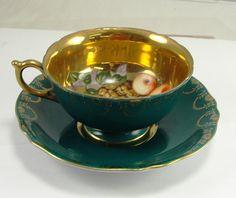 Vintage Royal Sealy China Japan Tea Cup Saucer Dark by goodoletom, $29.95