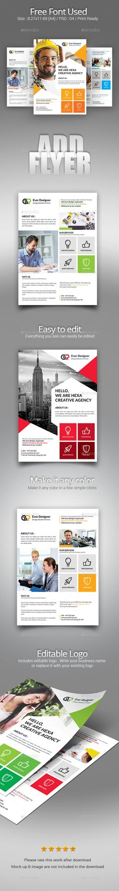 Corporate Business Flyer Template PSD Bundle. Download here: https://graphicriver.net/item/corporate-business-flyer-bundle/17621867?ref=ksioks