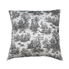 Toile Pillow in Black.