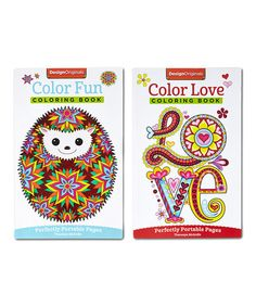 Another great find on #zulily! Color Fun & Color Love On-The-Go Coloring Book Set #zulilyfinds