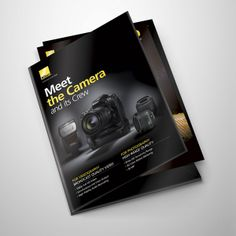 Released with dazzling video capabilities and an impressive range of accessories, this launch kit positioned the model as a contender to other cinema-grade competitors.This ad ran in trade publications to support the launch. Sales Kit, Nikon D800, Product Launch, Ads, Movie, Film, Cinema, Films