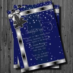 Printable Christmas Party by GooseCornerGreetings on Etsy, $15.00