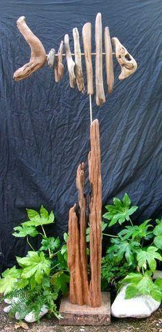Skeletal driftwood fish                                                       …