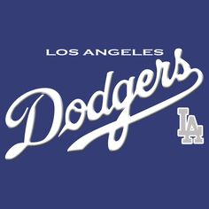 Los Angeles Dodgers T-Shirt LA Logo Baseball Jersey MLB Top Graphic Men Blue Tee