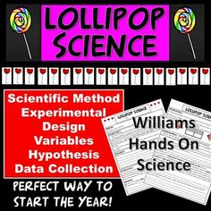 Lollipop Science is the first lab of the year for me and the kids love it! Students observe their lollipop, make predictions about it, eat it and answer questions about variables, hypothesis and compare data with their neighbors. It's easy prep and the key is included. Science Lesson Plans, Science Resources, Science Ideas, Science Lessons, Life Science, Predicting Activities, Making Predictions, Secondary Resources, Scientific Method