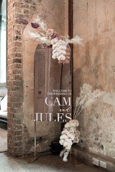 Jules and Cameron's Modern Fairytale Wedding - Modern Wedding Event Signage, Wedding Signage, Wedding Ceremony, Our Wedding, Dream Wedding, Wedding Disney, Disney Weddings, Fairytale Weddings, Themed Weddings