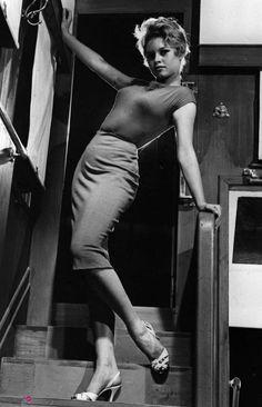 "Brigitte Bardot in ""Et Dieu… créa la femme"" directed by Roger Vadim, 1956."