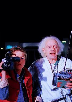 """Back to the FUTURE - """"I used to watch this part in slow motion to see the DeLorean disappear."""""""